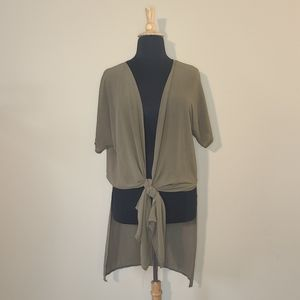 Green sheer duster plus size 2X